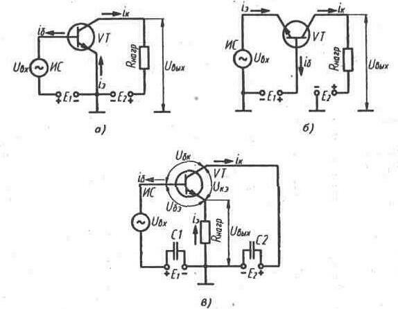 В силу того, что статические характеристики транзистора в схемах ОЭ или ОК примерно одинаковы, рассматриваются...