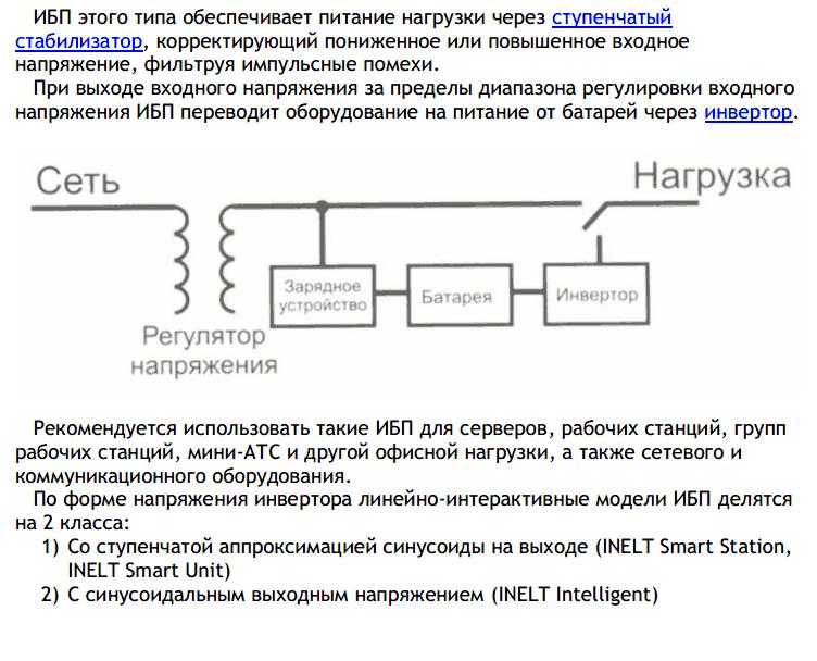 ИБП – структурная схема