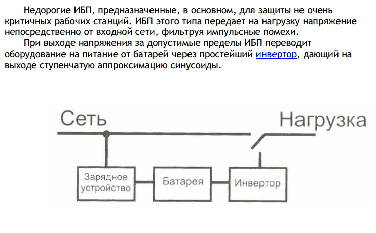 ИБП резервного типа (Off-Line