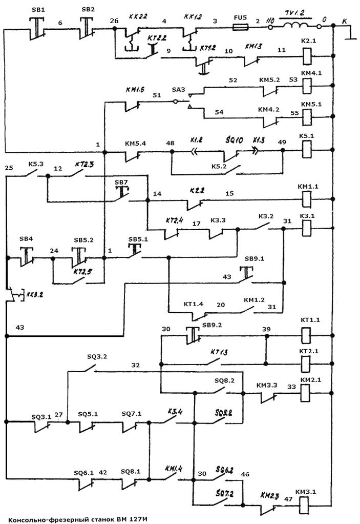 Схема ВМ127М (цепь управления)