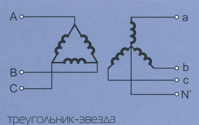Схема подключения трехфазных