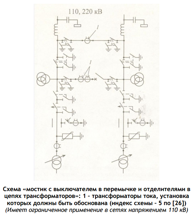 Схема «мостик с выключателем в